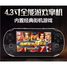 Double Rocker Handheld Game Player 8 GB 4.3 Inch Video Game Portatil 2017 Portable Game Console Free Download Kamera TV Out (Hitam) -Intl