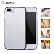 DOWA Magis Adsorpsi Anti-Gravity Handsfree Transparan Case Selfie Cover untuk IPhone 7 Plus (Hitam) -Intl