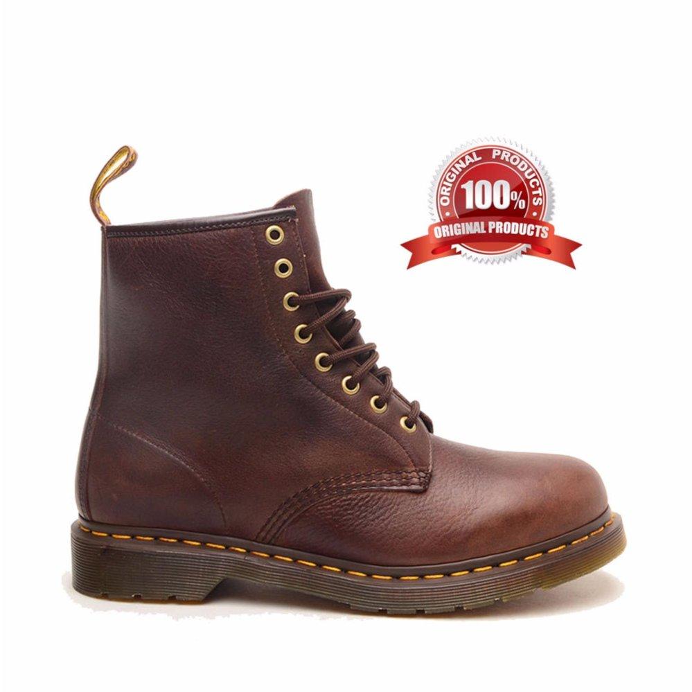 Beli Dr Martens 1460 8 Eye Boot Sepatu Pria Coklat Tua Dengan Kartu Kredit