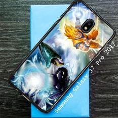 Dragonball Z Cell Vs Goku Z1600 Samsung Galaxy J7 Pro 2017 Custom Hard Case