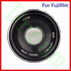 Mimpi Meike 35 Mm F1.7 Perdana Fixed Manual Lensa Fokus untuk Fuji Film X Mount Mirrorless APS-C Kamera X-A2 X-E2 x-M1 X-T1 X-Pro1