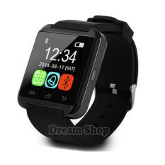 Dream Shop | Smartwatch U8 Android - Warna Hitam |  Jam Tangan Murah Rubber Strap