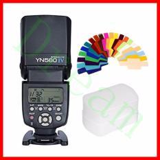 Mimpi Yongnuo YN560 IV 2.4G Wireless Flash Speedlite untuk Kamera DSLR dengan 20 Warna Gel
