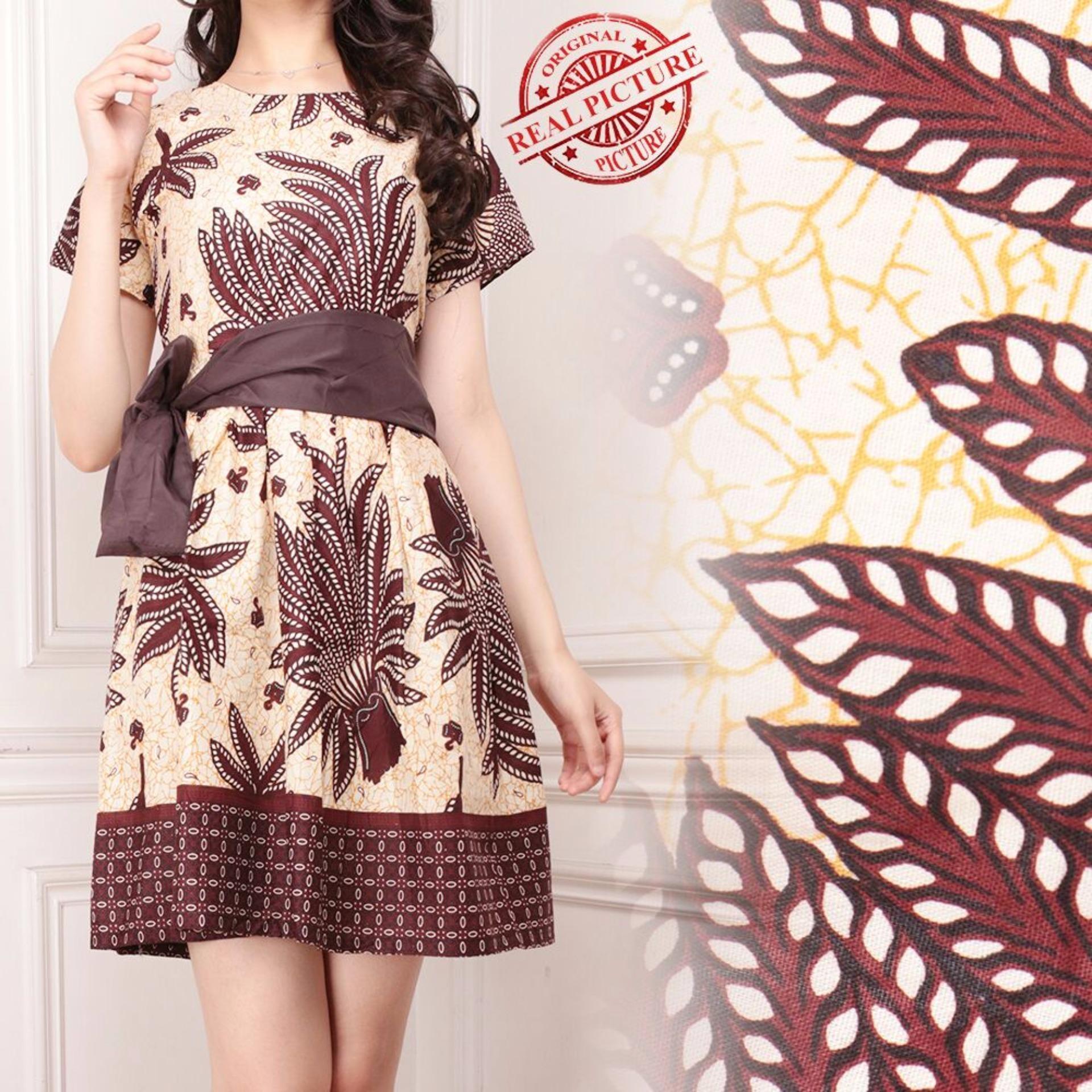Dress batik maaxi pendek wanita mini dress Lenicia 004ebf6ca5