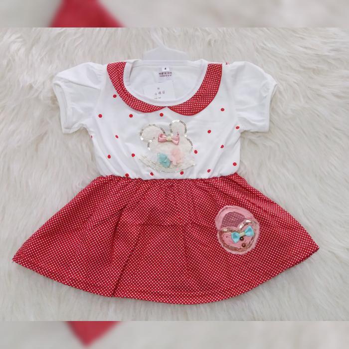 Dress Bayi Import / Baju Bayi Import Perempuan Usia 0M - 6M
