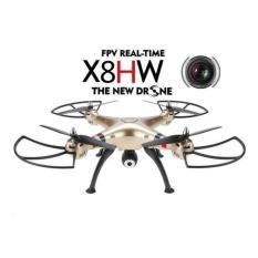 Drone Syma X8Hw Camera 2 Mega Pixel Fpv Hd Real Time Rc Drone 2 4Ghz 6Axis Gold Terbaru
