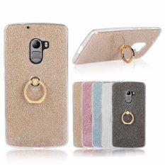 Drop Resistance Metal Ring Stand TPU Phone Case Cover untuk LENOVO K4 Note/Vibe X3 Lite/A7010 (emas) -Intl