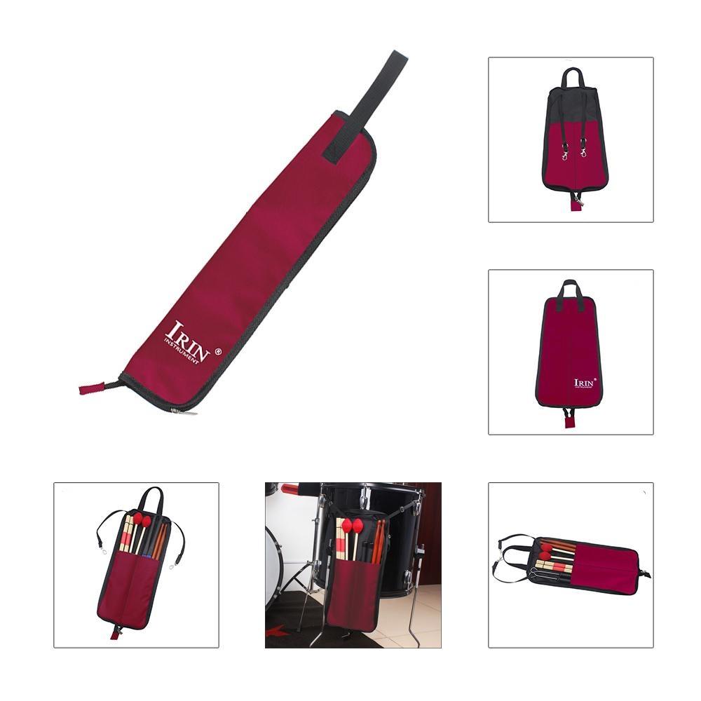 Drum Stick Bag Case Tahan Air 600D Dengan Carrying Strap Untuk Stik Drum Merah Intl Oem Diskon 50