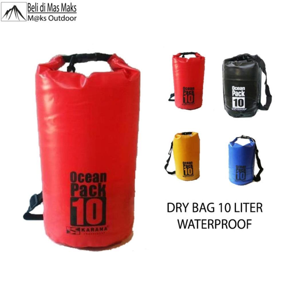 Dry Bag Waterproof Tas Anti Air 10 Liter untuk Olahraga Air