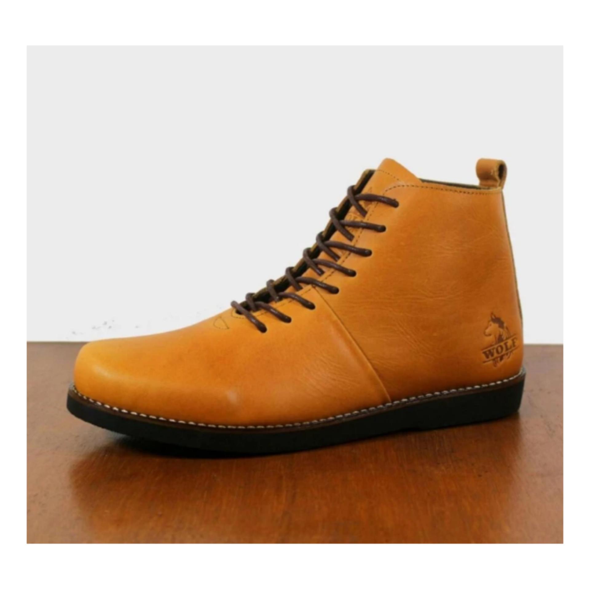 Ulasan Dsh Sepatu Brodo Bradleys Sepatu Boots Kulit Wolf Malamut High