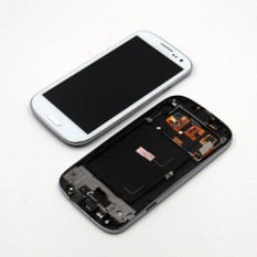 Beli Dsstyles Lcd Touch Screen Digitizer Display Assembly With Frame And Home Button For Samsung Galaxy S3 I9300 White Pake Kartu Kredit