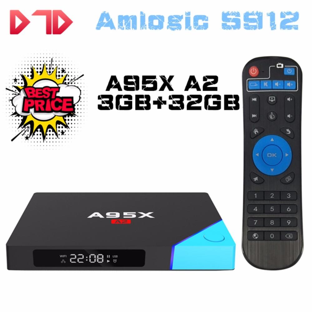 DTD Asli Nexbox A95X A2 Android Pemutar Cerdas Amlogic S912 Octa Core Android 6.0 4 K