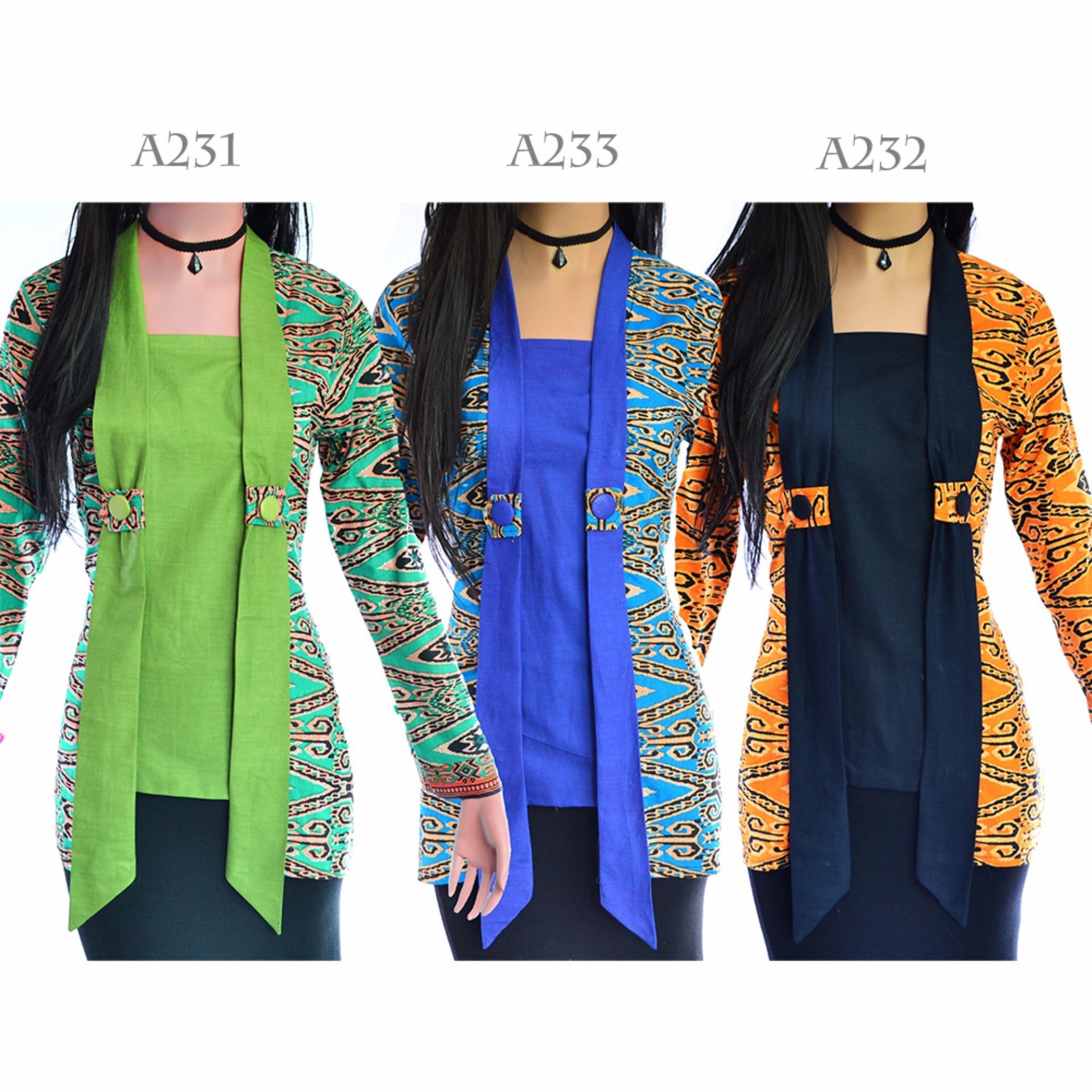 Review Dua Melati Atasan Blus Batik Wanita Tunik Kutu Baru Katun La231 Terbaru