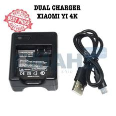 Dual Baterai Charger For Xiaomi Yi 4K International Murah