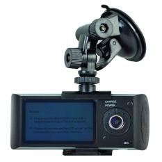 Dual Kamera Mobil DVR R300 dengan GPS dan 3D G-Sensor 2.7
