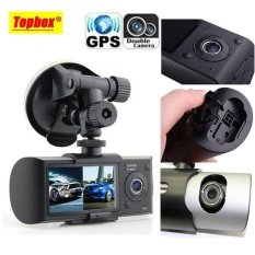 Dual Camera Car DVR R300 with GPS and 3D G-Sensor 2.7