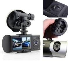 Dual Kamera Mobil DVR R300 dengan GPS dan 3D G-sensor 2.7 �  X9D TFT LCDX3000 Cam Video Camcorder Siklus Perekaman Digital Zoom-Intl