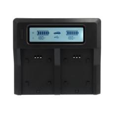 Dual Digital LCD Cepat Charger untuk Canon LP-E8 LPE8 LC-E8C LCE8CEOS650D 700D 750D 760D-Intl