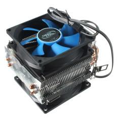 Ulasan Lengkap Dual Fan Cpu Mini Cooler Heatsink Untuk Intel Lga775 1156 1155 Amd Am2 Am2 Am3 Biru Hitam Intl