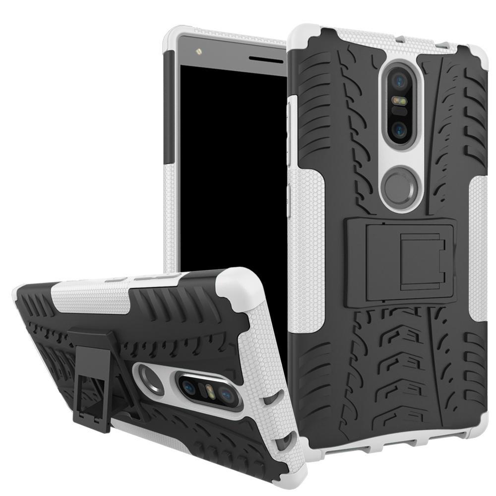Dual Layer Case untuk Lenovo Phob2 Plus Hybrid Tough Rugged Armor Kickstand Cover