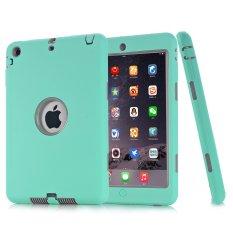 Lapis Ganda Bek DROP Bukti Silikon Case Pelindung For IPad 2/3/4 (hijau Mint) -Internasional