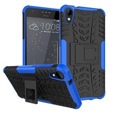 Dual Layer Hybrid Armor Kickstand Detachable 2 In 1 Shockproof Tough Rugged Case Cover untuk HTC Desire 10 Gaya Hidup /HTC Desire 825-Intl