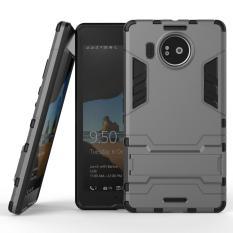 Dual Layer Armor Hibrida Armor dengan Kickstand Fitur untuk Microsoft Nokia Lumia 950 XL-Intl