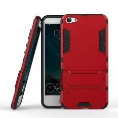 Layar Ganda Protektif Pelindung Hibrid Case dengan Kickstand Fitur untuk Vivo X7-Intl