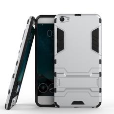 Dual Layer Armor Hibrida Baju Besi dengan Kickstand Fitur untuk Vivo X7 Plus-Intl