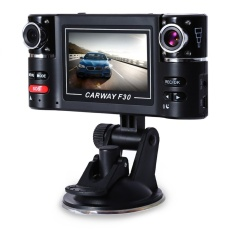 Dual Lens DVR Camcorder Camera F30 Dual Lens 2.7 Inch AutoCamcorder Car DVR Camera HD Windshield Driving Recorder Hot Sale &nbsp - intl