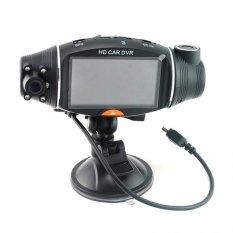 Dual Lens Di Car Kamera Video Daftar Perekam DVR CAM G-sensorGPSLogger-Intl