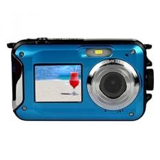 Dual Layar Kamera, KINGEAR 24 MP Depan dan Belakang Hidup Tahan Air Digital Camera-Biru-Intl