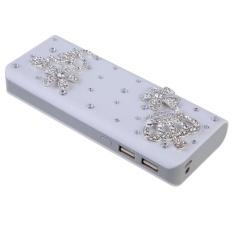 Dual USB 2A Power Charger untuk Ipad2/3 Iphone4/5/4 S (Mahkota Perak) -Intl