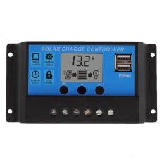 Kualitas Dual Usb Pwm 10 20 30A Solar Pengatur Beban 12 V 24 V Lcd Display Panel Surya Charge Regulator Model 10A Oem