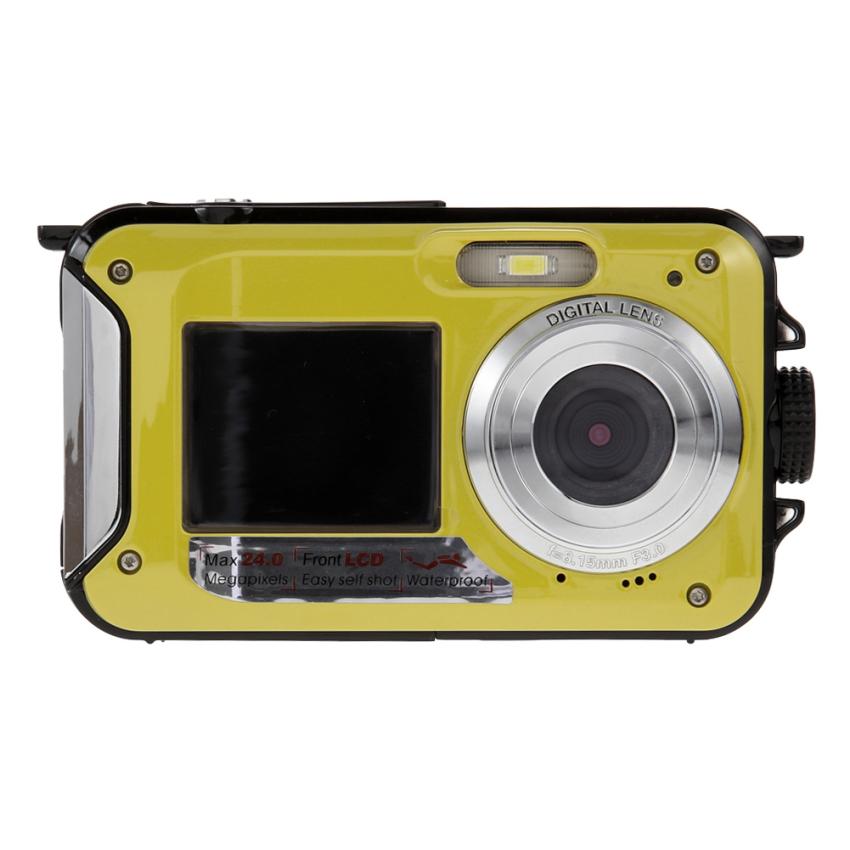 Spesifikasi Layar Hd Duble 24 Megapiksel Waterproofdigital Videocamera1080P Dv 16 X Tuntun Kami Steker Kuning Murah Berkualitas