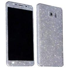 Harga Dull Polish Berlian Imitasi Diamond Shining Bling Full Body Skin Sticker Depan Kembali Glitter Cover Film Untuk Samsung Galaxy Note 5 Silver Tiongkok