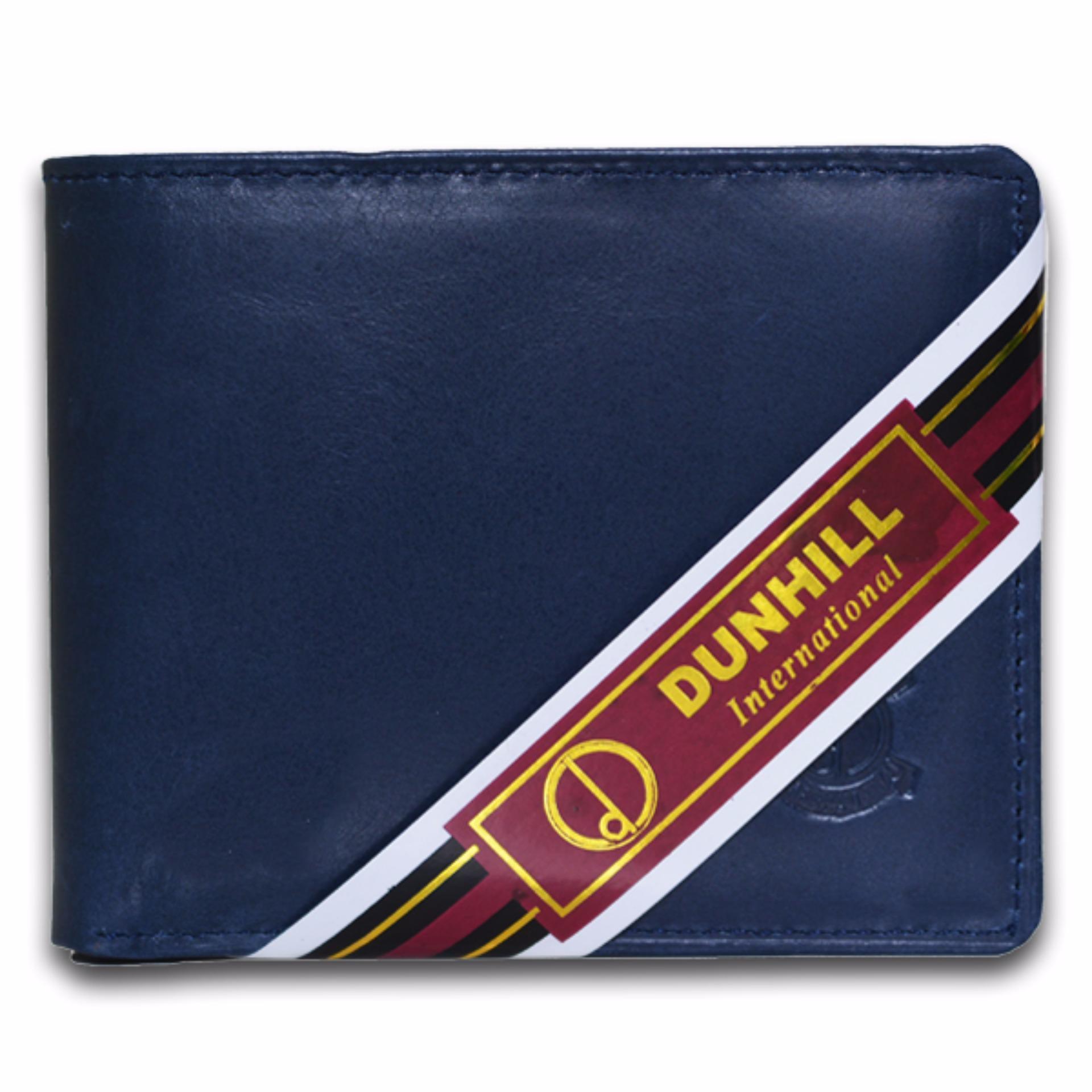 Spesifikasi Dunhill Dompet Pria Bahan Kulit 180 Biru Pull Up Dan Harganya