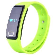 Bebas Debu & Air-tahan Bluetooth 4.0 TI CPU Smart Gelang Heart Rate dan Olahraga Memantau Smart Gelang untuk Androidand IOS (Warna Hijau) -Intl