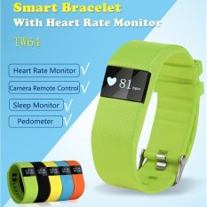 Dust-free & Water-resistant Bluetooth 4.0 TI CPU SmartBraceletHeart Rate and Sports Monitor Smart Wristband for Androidand iOS (Green Color ) - intl