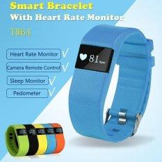 Bebas Debu & Air-tahan Bluetooth 4.0 TI CPU Smart Gelang Heart Rate dan Olahraga Memantau Smart Gelang untuk Androidand IOS (Warna Biru) -Intl