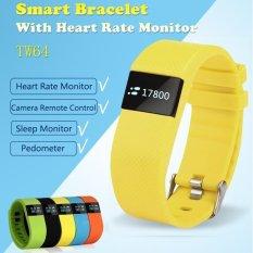 Bebas Debu & Air-tahan Bluetooth 4.0 TI CPU Smart Gelang Heart Rate dan Olahraga Memantau Smart Gelang untuk Androidand IOS (Warna Kuning) -Intl