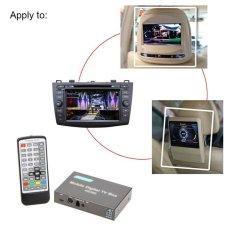 DVB-T HD/SD Berbagai Channel Mobile Mobil Digital TV Box Mini TVAnalog Tuner High Speed 240 Km/h Sinyal Kuat Receiver untuk CarMonit-Intl