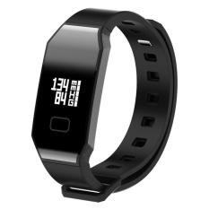 E02 Gelang Heart Rate Monitor Smart Jam Tekanan Darah Darah Oksigen Pelacak Olahraga Pengingat Smart Gelang untuk IOS dan Andro- INTL