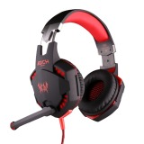 Ulasan Setiap G2100 Getaran Fungsi Headphone Studio Pro Gaming Headset And Earphone With Lampu Led Mikrofon Stereo For Pemain Game Komputer Merah Internasional