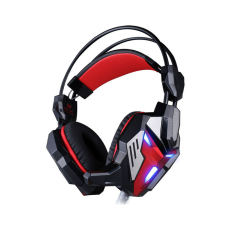 EACH G3100 Vibration Function Pro Gaming Headphone Games Headset with Mic LED Light for PC Gamer(Black/Red) - intl