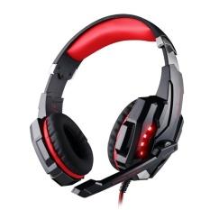SETIAP G9000 3.5mm Headset Headphone Gaming Headphone Earphone Headbandwith Mikrofon LED Light untuk Tablet Laptop Ponsel (HITAM) -Intl