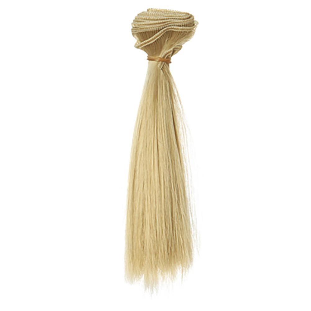 Eachgo 15*100 Cm BJD Rambut Palsu DIY Suhu Tinggi Kawat Lurus Rambut Cosplay Party-Intl Rich Long