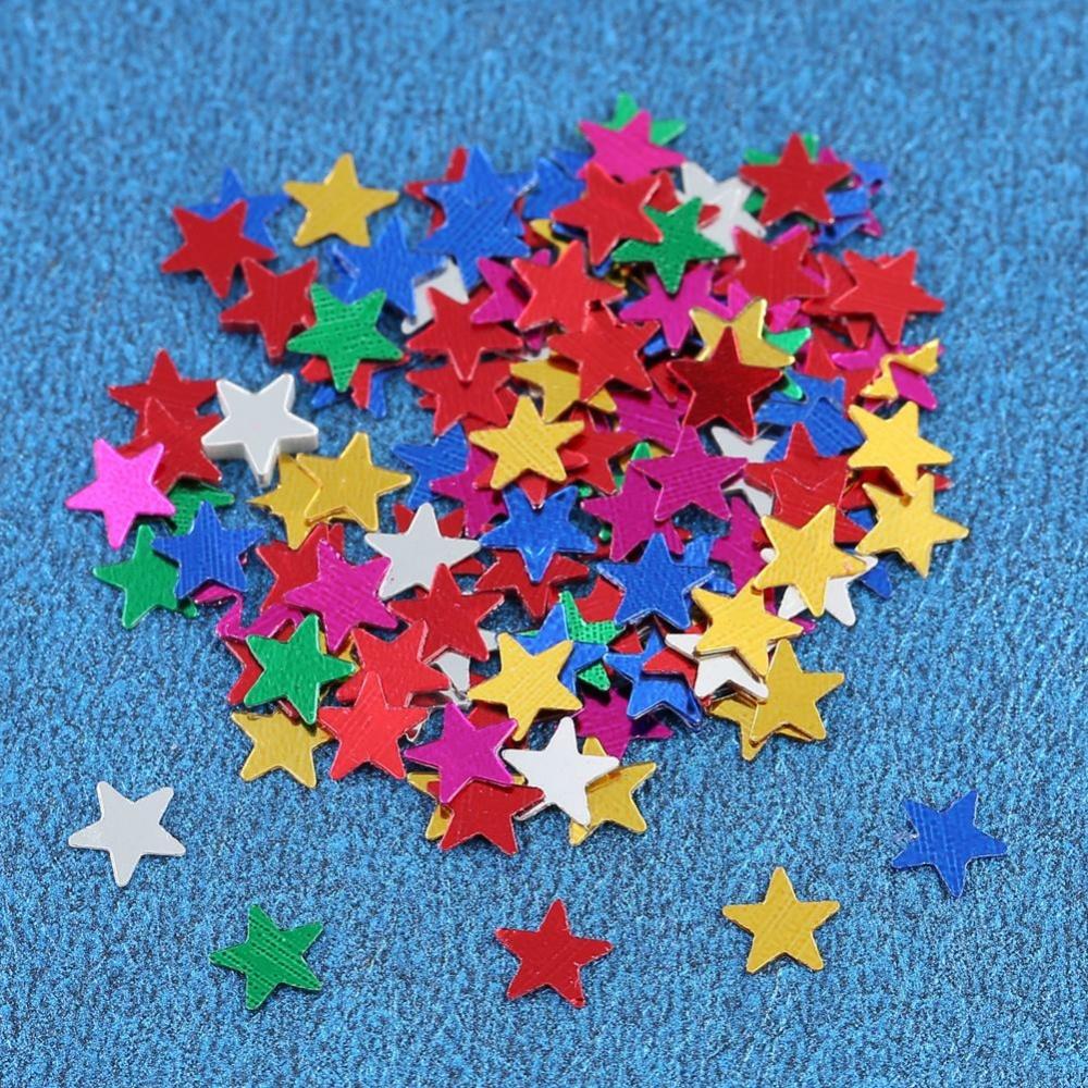 Eachgo 6mm 3000 Pcs Multicolor Little Stars Sequins Confetti DIY Pakaian Hadiah Pesta Pernikahan Perayaan Karnaval Art Decoration- INTL