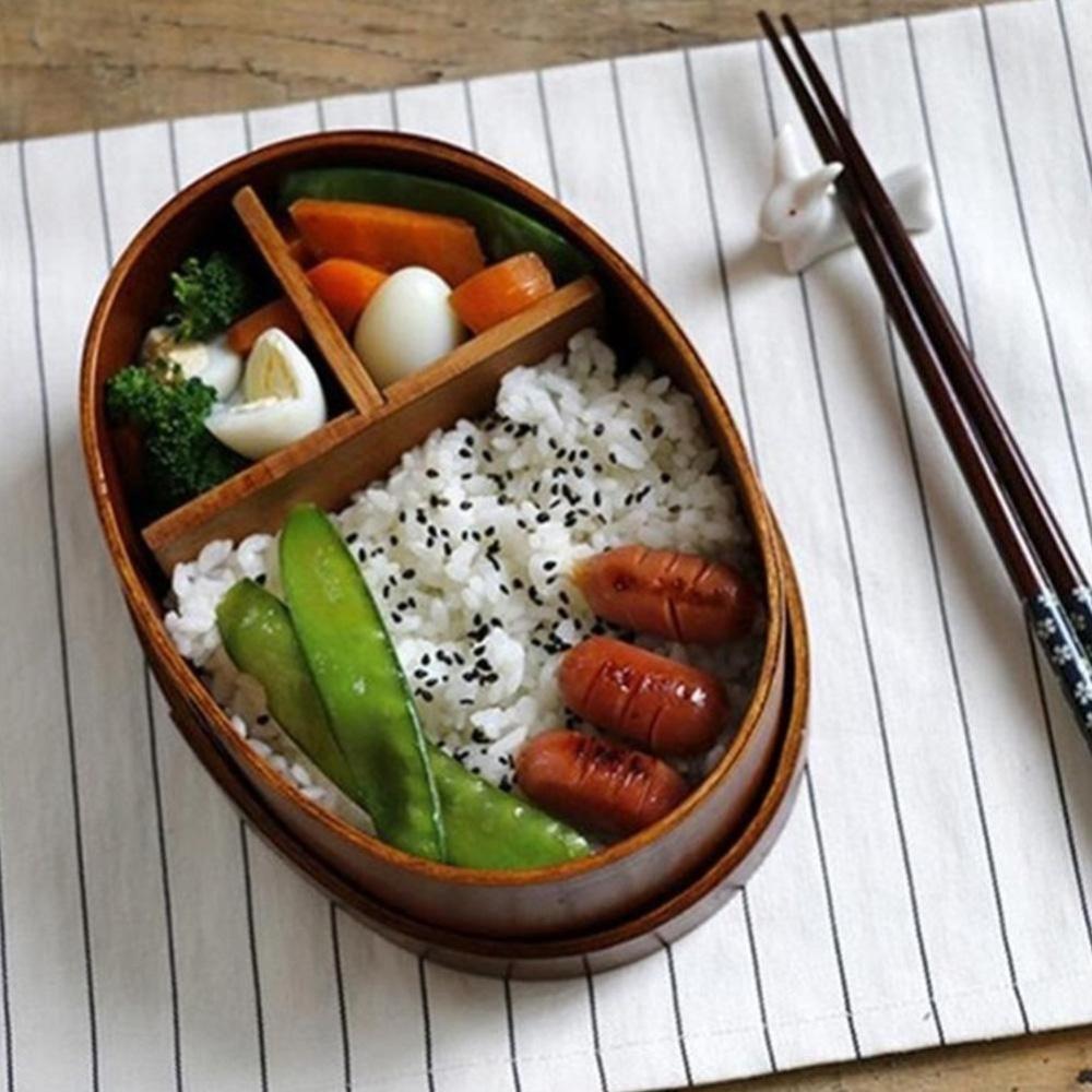 Beli Eachgo Gaya Jepang Bento Kotak Kayu Kotak Makan Handmade Wooden Sushi Mangkuk Pecah Makanan Kontainer Internasional Online Tiongkok