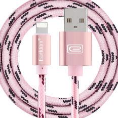 Earldom 1 M Aluminium Aloi Anyaman Kabel Pengisi Daya Kabel USB Sinkronisasi dan Pengisian Cepat untuk